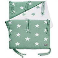 Baby´s Only Star Bed Bumper - Mantinel do postýlky - Mint / White