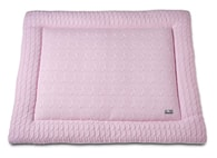 Baby´s Only Cable Uni Playpen Mat - Deka do ohrádky - 06. Baby Pink 75x95
