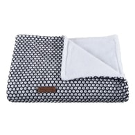 Baby´s Only Sun Cot blanket Teddy 100x135cm - White/black