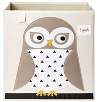 3 Sprouts Storage Box - Úložný box - Owl