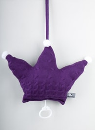Baby's Only Cable Uni Musicbox Crown - Hrací korunka - Cable uni Crown Purple