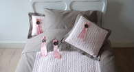 Baby´s Only Cable Deco Peřina - Beige/Pink 1 Person 140x200