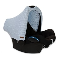 Baby´s Only Cable Teddy Canopy for Car Seat - Potah stříšky na autosedačku 0+ - Baby Blue