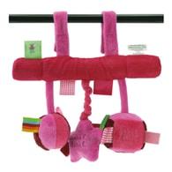 Label-Label Stars Car seat toy - Závěsná hračka k autosedačce - Pink/Fuchsia