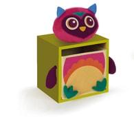 O-OOPS Happy Bedroom! - Skříňka ve stylu zvířátek - Owl - Green