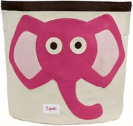 3 Sprouts Storage Bin - Elephant Pink