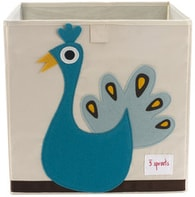 3 Sprouts Storage Box - Peacock