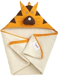 3 Sprouts Hooded Towel - Tiger