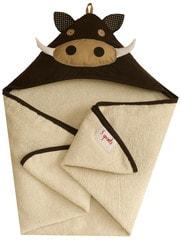 3 Sprouts Hooded Towel - Warthog - Prase bradavičnaté