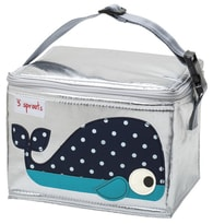 3 Sprouts Lunch Bag - Svačinový box - Whale