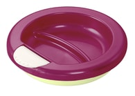 "Rotho® Modern Feeding Four Little Friends""Stay warm plate"" - Dětský termotalíř - Raspberry pearl/white creme/mintgreen"