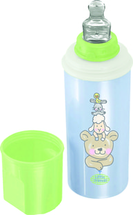 "Rotho® Modern Feeding Four Little Friends ""Stay warm bottle"" - Termolahev - Four little friends - Babyblue Perl/Mintgreen/White"