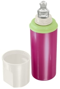 "Rotho® Modern Feeding Four Little Friends ""Stay warm bottle"" - Termolahev - Raspberry Pearl/Perlwhite creme/Mintgreen"
