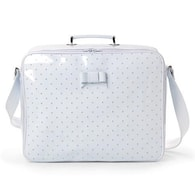 Pasito a pasito tašky a obaly Patent Leather White Polka dot - large hospital suitcase Polka Dot Blue