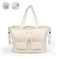 """pasito a pasito® Montblanc Winter Maternity Bags""""CHanging Bag"""" - Přebalovací taška bez podložky Pink - Beige"""