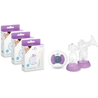 Bayby Elektrická odsávačka mléka DUO + 90 sáčků zdarma BBP 1020+BBS 6000