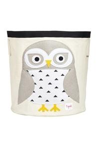 3 Sprouts Storage Bin - Snowy Owl