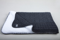 Baby´s Only Cable Teddy Blanket - Dětská deka - Anthracite 100x130cm