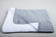 Baby´s Only Cable Teddy Blanket - Dětská deka - Grey 100x130cm