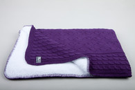Baby´s Only Cable Teddy Blanket - Dětská deka - Purple 100x130cm