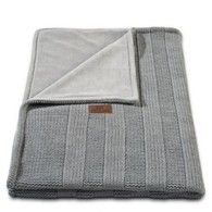 Baby´s Only Robust Rib&Pip Chenille Blanket - Dětská deka - 15. Rib Light Grey 100x130