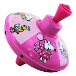Petit Jour Paris Maisy Mouse Toy Small humming top pink- Káča
